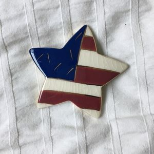 Jewelry - Vintage American Flag Star Brooch Pin